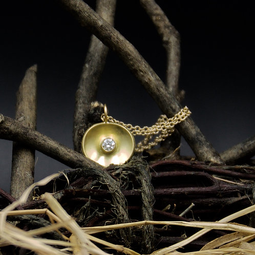 18k Gold & Diamond Curvo Necklace