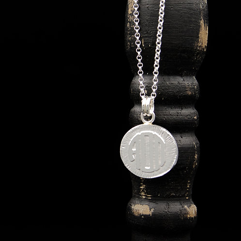 Alpha Omicron Pi Coin Necklace - Sterling Silver