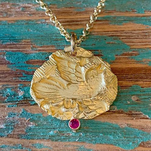 22k Gold Take Flight Necklace