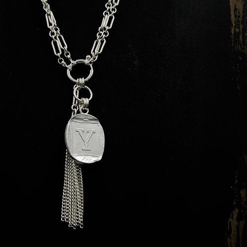 Yale - Tassel Necklace - Rectangle