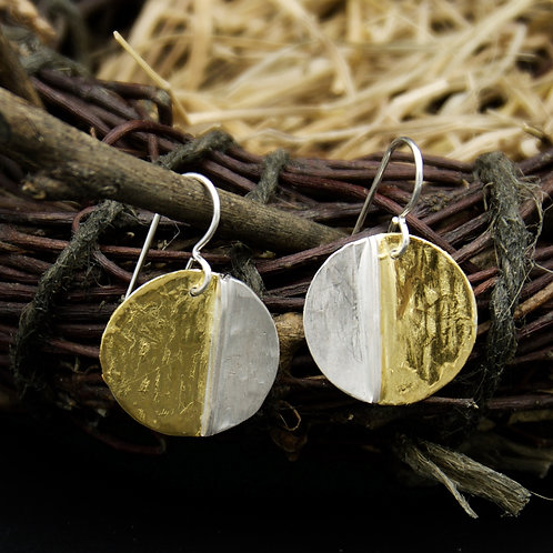 Falling Leaves Earrings - Circle
