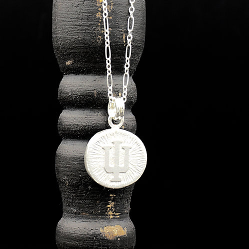 Indiana - Trident Coin Necklace - Sterling Silver