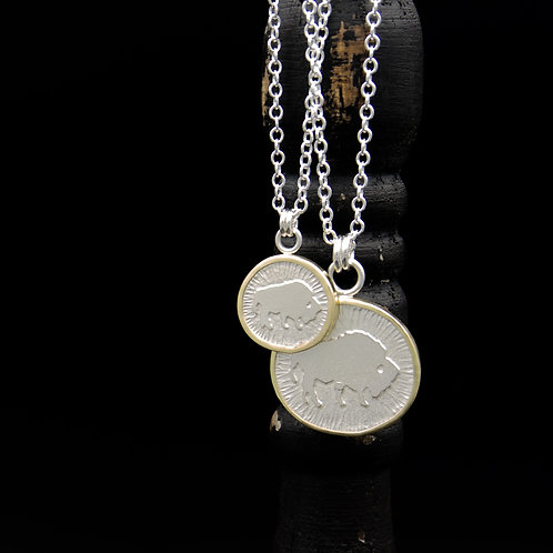 Colorado - 18k Gold Wrapped Buffalo Necklaces - SM or LG
