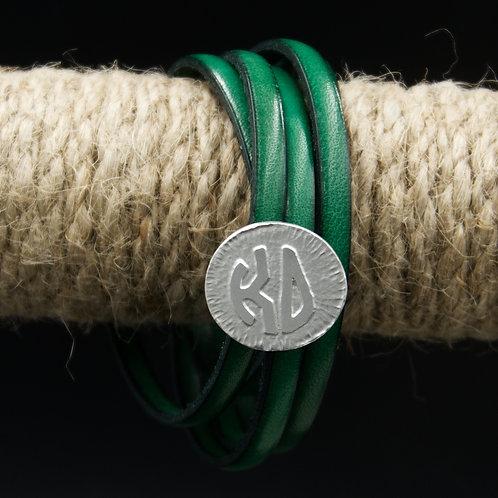 Kappa Delta Leather Wrap Bracelet