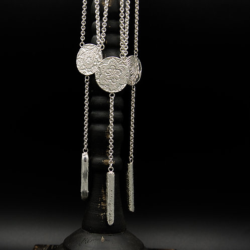 Fiore Y-Style Necklace w/Silver Bar