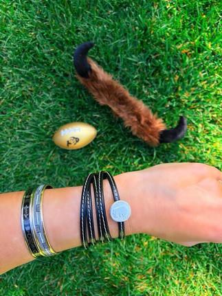 Game Day Buffs leather wrap bracelet