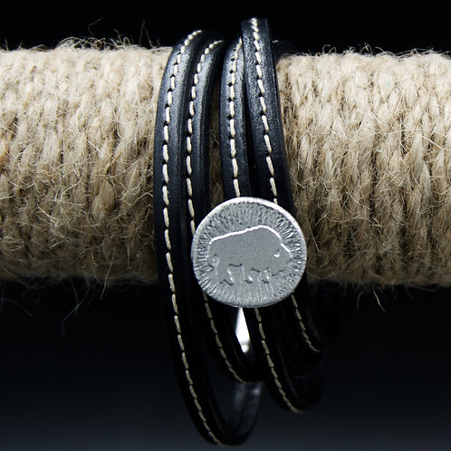 Colorado - Buffalo Leather Wrap Bracelet