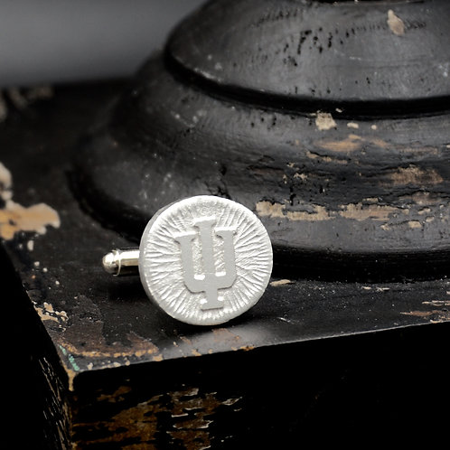 Indiana - Trident Coin Cuff Links - Sterling Silver