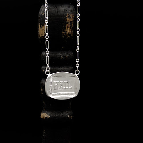 Michigan - Hail Medallion Necklace - Rectangle