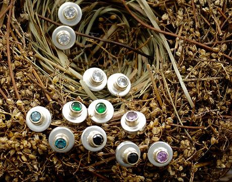 Stud Earrings - Colorful Gemstone Earrings