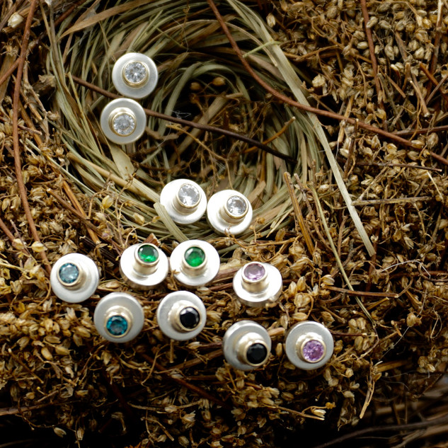 Colorful Gemstone Studs