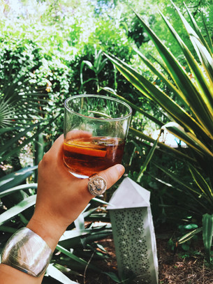 Cheers to vacation with Athena coin ring and silver cuff bracelet