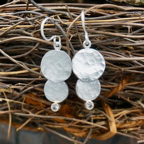 Fine Silver Disc Earrings - 2 Disc