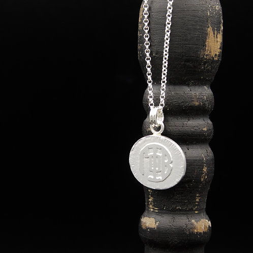 Gamma Phi Beta Coin Necklace - Sterling Silver