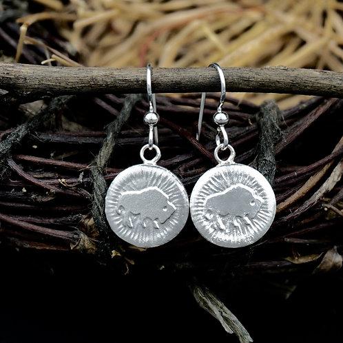 Colorado - Sterling Silver Buffalo Earrings