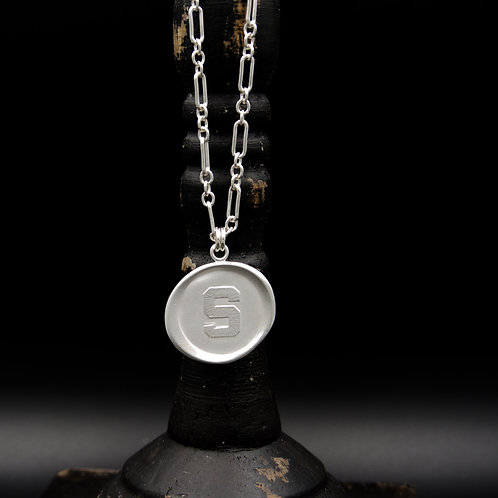"""Michigan State - """"S"""" Medallion Necklaces LG - 2 Designs"""