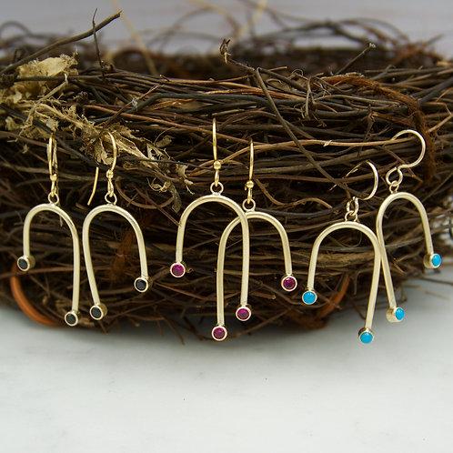 Chandelier Earrings with Gemstones