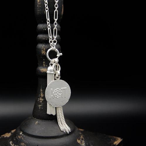 Alpha Omicron Pi Tassel Necklace (LG) - Wear short or long