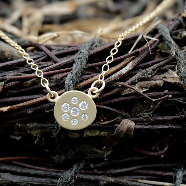 Diamond & 18k Gold Scatter Necklace