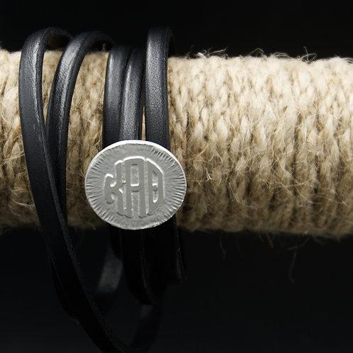 Kappa Alpha Theta Leather Wrap Bracelet
