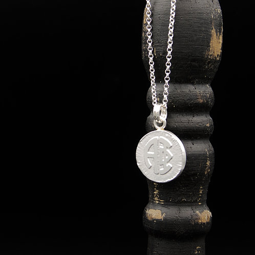 Alpha Phi Coin Necklace - Sterling Silver