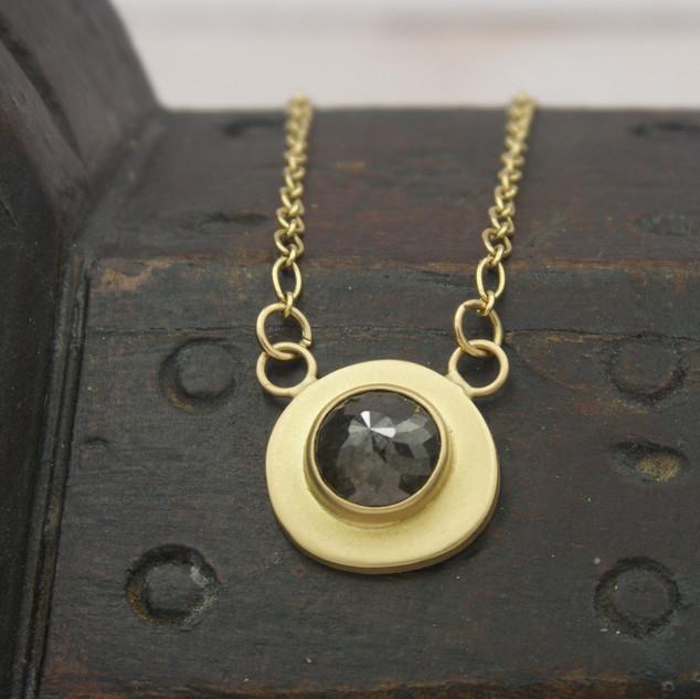 18k Gold & Black Diamond Necklace