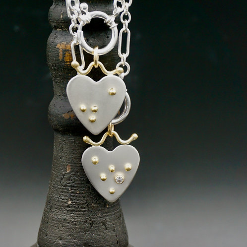 Silver & Gold Hearts