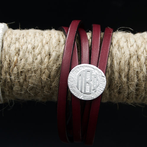 Pi Beta Phi Leather Wrap Bracelet