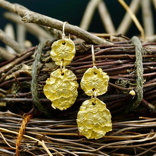 22k Gold Take Flight Earrings - Double