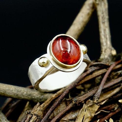 Garnet Ring w/18k Gold