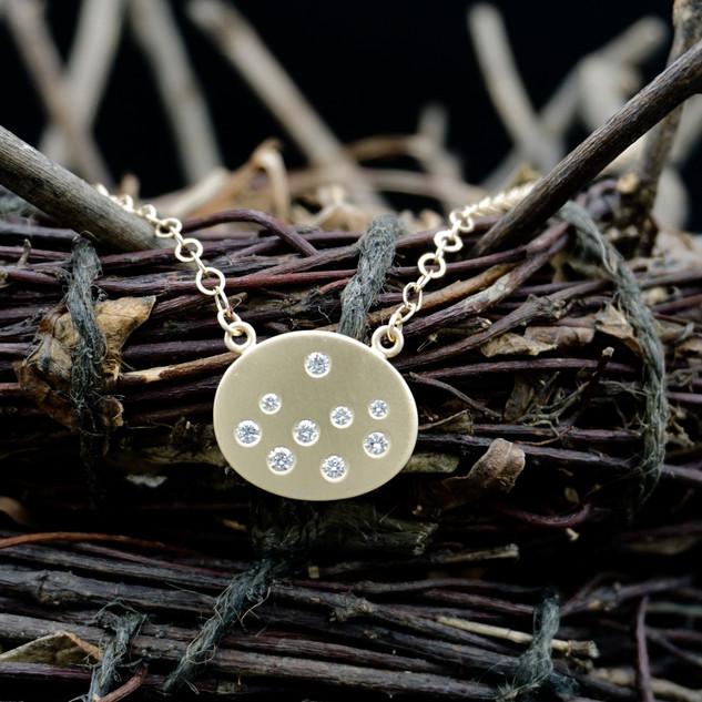 18k Gold Scatter Diamond Necklace