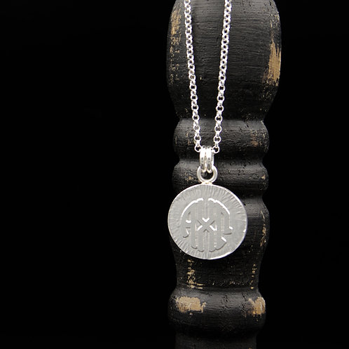 Alpha Chi Omega Coin Necklace - Sterling Silver