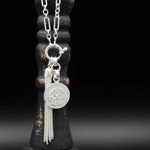 Alpha Chi Omega Tassel Necklace (SM) - Wear short or long