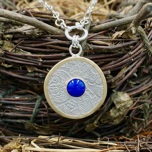 18k Gold Wrapped Fiore Necklace - Lapis