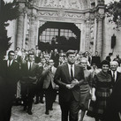 Jacques Lowe (1930-2001)  John F. Kennedy during the state visit in France, at the Palais Elysee  photo June 1961 [printed later]  gelatin silver print, AP, signed  paper size > 20 x 16 inches