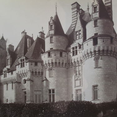 Séraphin-Médéric Mieusement (1840- 1905)  Château Tour d'angle, Mesnières, circa 1880s   albumen print mounted on bookboard, inscribed, stamped  10.5 x 17 inches