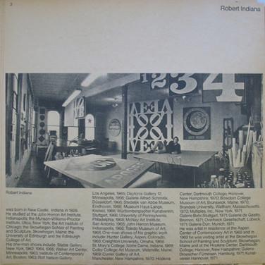 Robert Indiana in his Bowery Studio, 1971  Photograph by Eliot Elisofon
