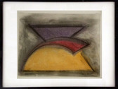 CHARLES HINMAN (b. 1932) Untitled #5, 1973  charcoal, pastel on paper  11 x 14 inches
