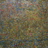 James Juthstrom [1925-2007] Untitled [Gold], circa 1960s mixed media on artist paper, 21 x 30 inches