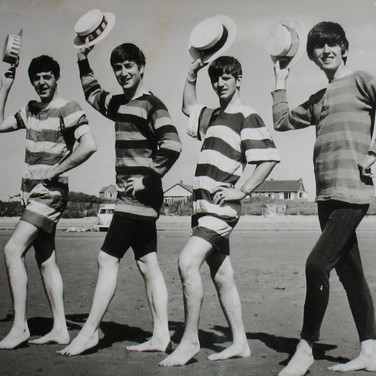 Dezo Hoffman [1918-1986]  The Beatles, Weston-Super-Mare, UK, July 1963  vintage gelatin silver print, stamped image size > 7.25 x 9.5 inches