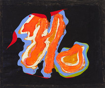 Boris Lurie (1924-2008)  NO on Plastic, 1966-1969  oil paint on unstreched canvas  28.5 x 35 inches