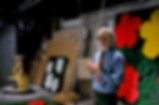 ADELMAN 30, Warhol Factory w Flowers sil
