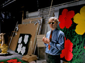 Bob Adelman (1930-2016) Andy Warhol at the Factory with 'Flower' paintings photograph 1965 (printed later) archival pigment print, AP, signed paper size > 12.25 x 18.75 inches