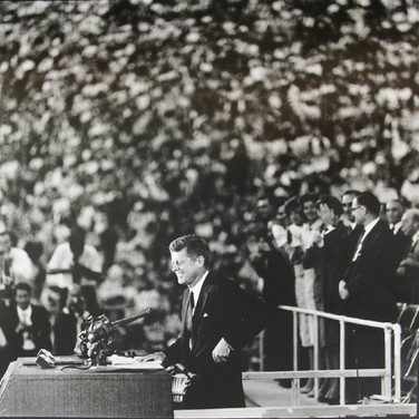 Jacques Lowe (1930-2001)  Democratic Convention, Los Angeles Coliseum  photo 1960 [printed later]  gelatin silver print, signed  paper size > 20 x 16 inches
