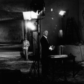 Lucien Clergue [1934-2014]  The Poet (Jean Cocteau) and The Bailiff (Yul Brynner) between takes, on the set of Testament of Orpheus, Les Baux de Provence  photo 1959 [printed later]  gelatin silver print, edition of 30 PF, signed  paper size > 12 x 16 inches