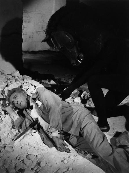 Lucien Clergue [1934-2014]  Testament of Orpheus de Jean Cocteau, Les Baux de Provence  photo 1959 [printed 1992]  gelatin silver print, edition of 30 PF, signed  Paper Size: 11.5 x 15.5 inches | 29.2 x 39.4 cm Image Size: 10.25 x 14.25 inches | 26.0 x 36.2 cm