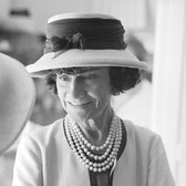 Douglas Kirkland  Mademoiselle Chanel in the Atelier at the House of Chanel  1962 [printed later]  archival pigment print, edition of 24, signed  paper size > 20 x 24 inches