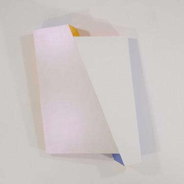 Charles Hinman Reflector, 2008 acrylic on shaped canvas 43 x 33.5 x 8.75 inches