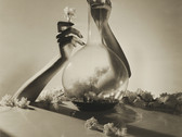 HORST P. HORST Lisa: Hands with Vase & Flowers, New York  1941 (printed Later)  gelatin silver print  20 x 16 inches