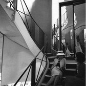 Douglas Kirkland  Mlle Chanel on the mirrored staircase, House of Chanel  1962 [printed later]  archival pigment print, edition of 24, signed  paper size > 24 x 20 inches